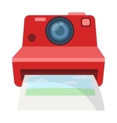 Retro photocamera icon in cartoon style isolated vector image vector image