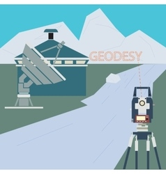 Scientific surveying company vector