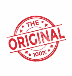 The original rubber stamp red color vector