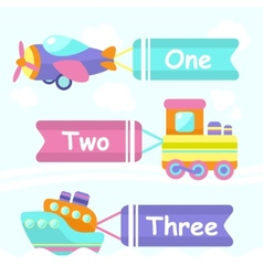 Transport toy banners vector image