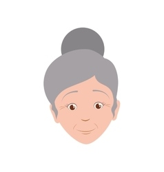 Grandmother female woman hair grey icon vector