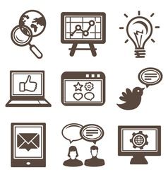 internet marketing icons vector image