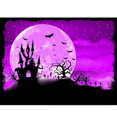 Halloween poster with zombie background eps 8 vector