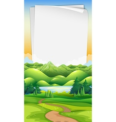Paper template with park background vector