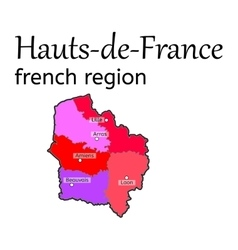 Hauts-de-france french region map vector