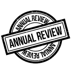 Annual review rubber stamp vector
