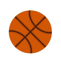 orange basketball ball icon flat style vector image