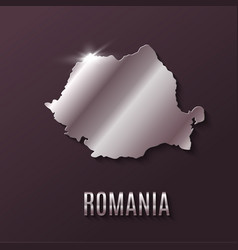 Romania world map world geography vector