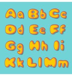 Abc bold retro vector