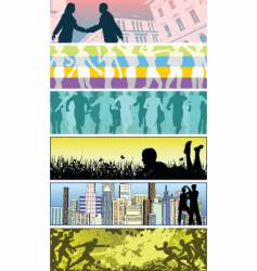 people banners vector image