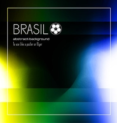 Brasil soccer abstract background for poster vector