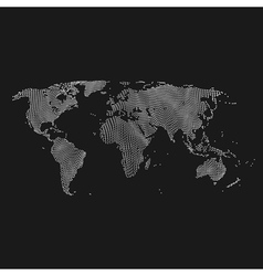 Map of the world business background vector