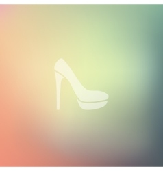 shoe icon on blurred background vector image