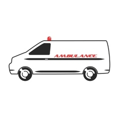 Ambulance van in flat design vector