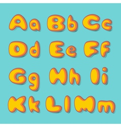 Abc bold retro vector
