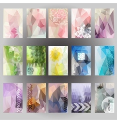 Abstract header background label design Geometric vector image vector image