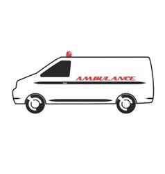 Ambulance van in flat design vector image