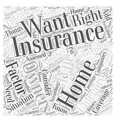 Choosing the right home owners insurance for your vector