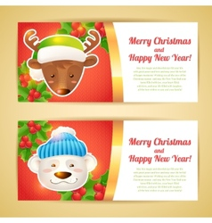 Christmas banner horizontal vector