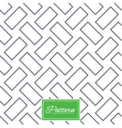cobbles grid stripped seamless pattern vector image vector image