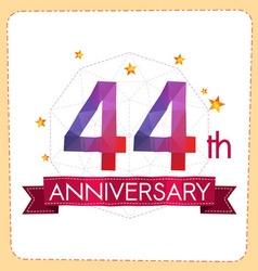 Colorful polygonal anniversary logo 2 044 vector