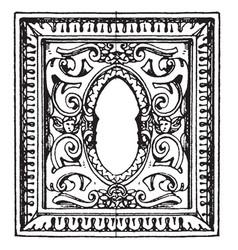 desk in san giorgio maggiore frame is an italian vector image vector image