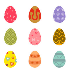 easter eggs icons vector image vector image