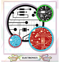 Electronic circuit background vector