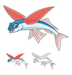 Flying fish vector