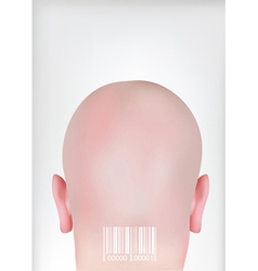 head with bar codes vector image