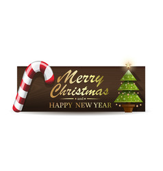 Holiday banner for christmas and new year vector