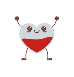 Kawaii cute heart blood care vector
