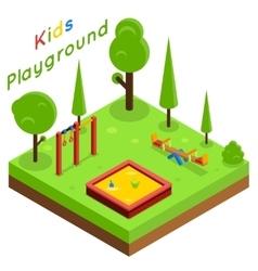 Kids playground isometric flat vector image