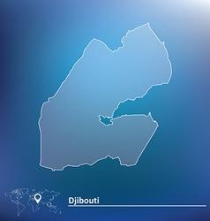 Map of Djibouti vector image vector image