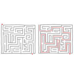 Maze labyrinth game square vector