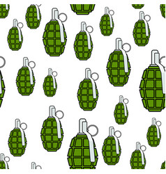 military grenade pattern vector image vector image