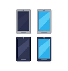 modern cellphones flat icons set vector image