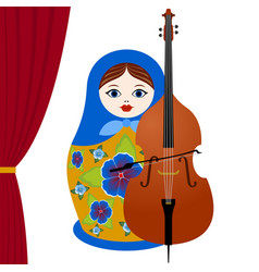 Musician with a cello vector