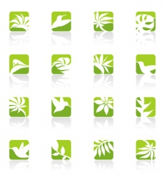 nature elements for design vector image