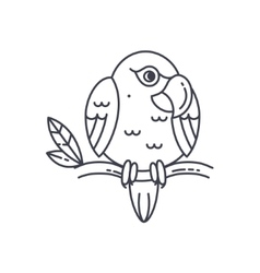 Parrot line icon vector image