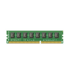 ram flash memory chip isolated on white vector image vector image