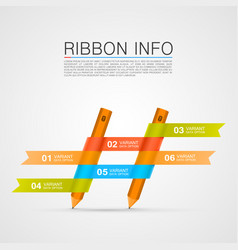ribbon with a pencil list of options vector image vector image