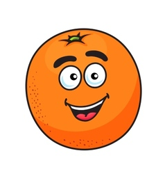 Ripe cartoon orange fruit vector image vector image