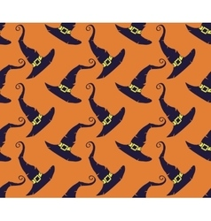 Seamless halloween hat backgrounds vector image vector image
