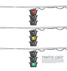 Traffic signal on a white background vector