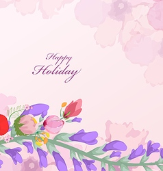 Watercolor wildflowers background vector image vector image