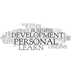 what you can learn about personal development vector image vector image