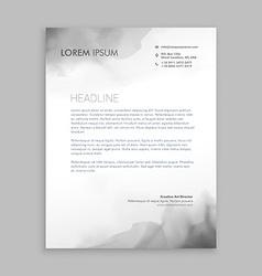 Creative flowing ink letterhead design vector