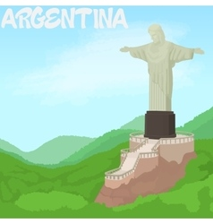 Argentina concept cartoon style vector
