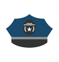 police hat elements of the police equipment icons vector image